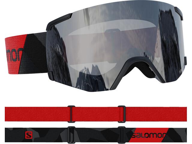 Salomon S/View Access Goggles, black/red/silver